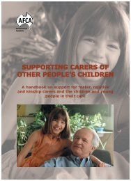 Supporting Carers Of Other People's Children - Australian Foster ...