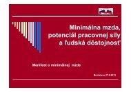 Minimálna mzda, potenciál pracovnej sily a ľudská ... - KOZ SR