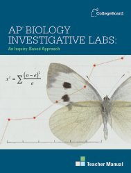AP® Biology investigAtive lABs: - College Board