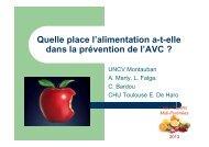 Alimentation et prévention de l'AVC