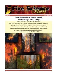 Fire Science Digest, Issue 2, March 2008 - Joint Fire Science Program
