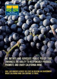 we initiate and advocate public policy that ... - The Wine Institute