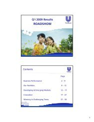 Q1 2009 Results ROADSHOW - Unilever