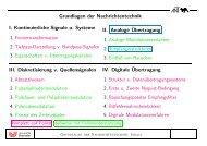Grundlagen der Nachrichtentechnik I. Kontinuierliche Signale u ...