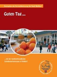 Konzeption der Kernzeitbetreuung der Stadt Walldorf - Waldschule