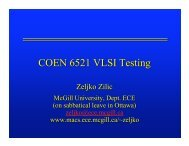 COEN 6521 VLSI Testing - Electrical and Computer Engineering ...