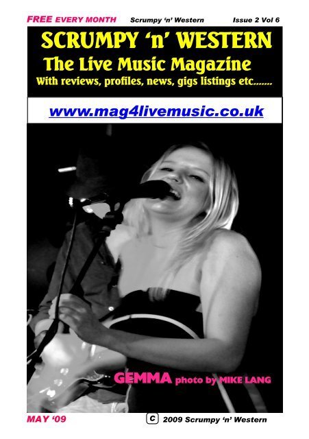 Free Every Month Scrumpy N Western Issue 2 Mag 4 Live Music
