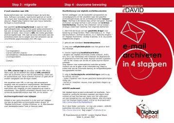 e-mail archiveren in 4 stappen - eDAVID