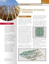 AQC - « Fiche pathologie bâtiment » C.4 Déformations de fermettes ...