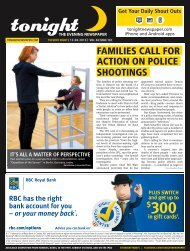 families call for action on police shootings - tonight Newspaper