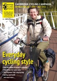 CAMBRIDGE CYCLING CAMPAIGN NEWSLETTER 102 • JUNE
