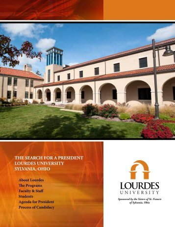 the search for a president lourdes university ... - Lourdes College