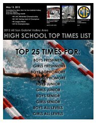 2012 SGV HS Swimming Top Times - the Mt. SAC Special Events ...