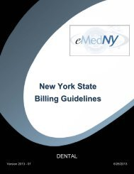 Dental Billing Guidelines - eMedNY