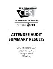 ATTENDEE AUDIT SUMMARY RESULTS - CES