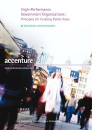 High-Performance Government Organizations: - Accenture