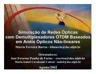 Especificação de componentes para a simulação de redes ópticas