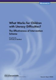 What Works for Children with Literacy Difficulties? - Digital ...