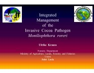 Integrated Management of the Invasive Cocoa Pathogen ... - CEDAF