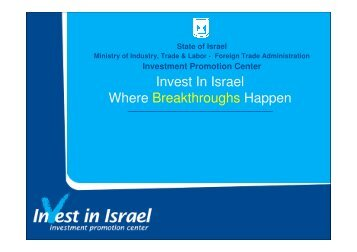 (Microsoft PowerPoint - Israel \226 Where ... - Invest in Israel