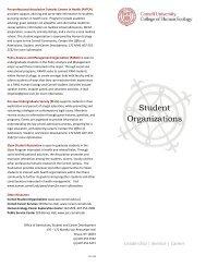 Student Organizations - Cornell University College of Human Ecology