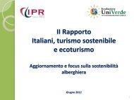 II Rapporto Gli Italiani, il turismo sostenibile e l'ecoturismo giugno ...