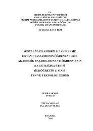 SOSYAL YAPILANDIRMACI ÖĞRENME ... - Prof.Dr. Seval Fer