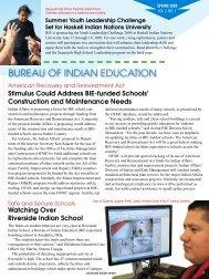 Spring 2009 - Bureau of Indian Education