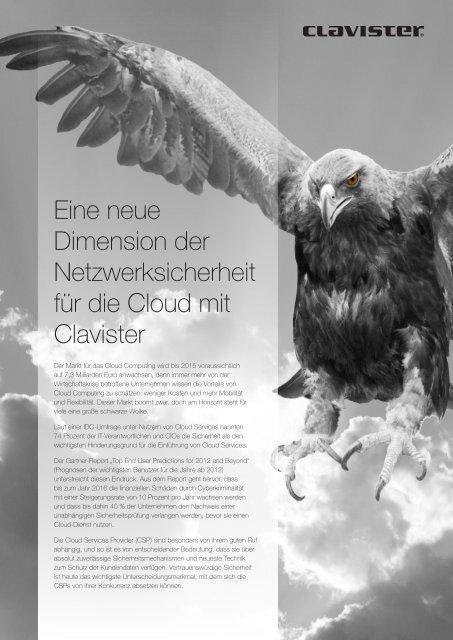 Eine neue Dimension der Netzwerksicherheit für die Cloud - Clavister