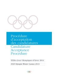 Candidature Acceptance Procedure 2014 - FRA - May 2005