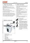 HSM 104.3cc Office Cross-Cut Shredder Manual - ACE Depot - Page 3