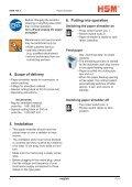 HSM 104.3cc Office Cross-Cut Shredder Manual - ACE Depot - Page 4