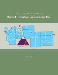 Region 1 ITS Strategic Implementation Plan - Colorado Department ...