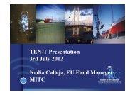 TEN-T presentation - 03-07-2012
