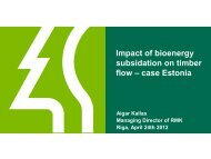 Impact of bioenergy subsidation on timber flow ... - Invest in Forest