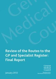 Routes to the GP and Specialist Register - General Medical Council