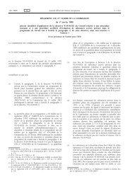 RÈGLEMENT (CE) No 33/2008 DE LA COMMISSION du ... - EUR-Lex