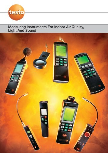 Measuring Instruments For Indoor Air Quality, Light And Sound - Testo