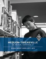 sChool RepoRT CaRDs - Mequon-Thiensville School District