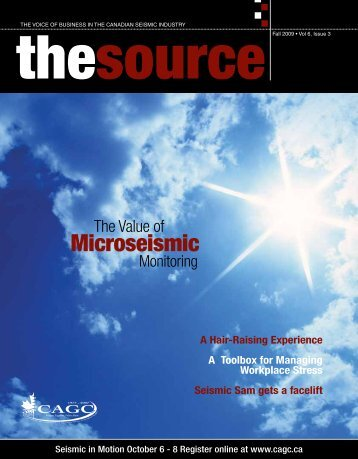 Microseismic - Canadian Association of Geophysical Contractors