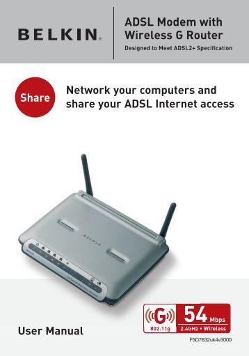 ADSL Modem with Wireless G Router
