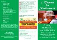 2. Festival der Straßenmusik - Leben in Sülz