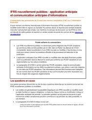 IFRS nouvellement publiées - Normes d'information financière et de ...