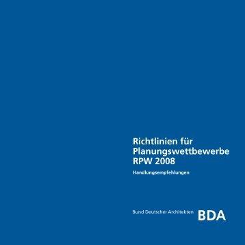 RPW 2008 - Bund Deutscher Architekten BDA