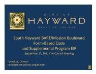 South Hayward BART/Mission Boulevard Form ... - City of HAYWARD