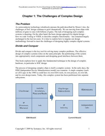Chapter 1: The Challenges of Complex Design - Synopsys