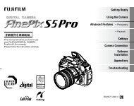 Finepix S5 Pro Manual