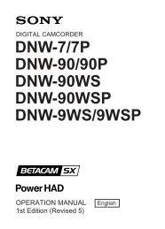 DNW-7/7P DNW-90/90P DNW-90WS DNW-90WSP DNW-9WS/9WSP