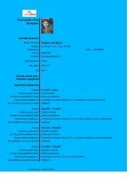 Curriculum vitae Europass - Universitatea