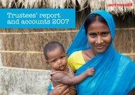 Trustees' report and accounts 2007[pdf] - ActionAid